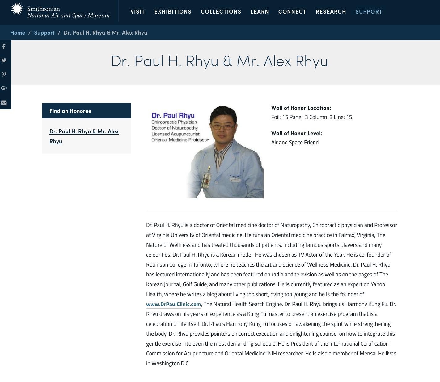 Dr. Paul Rhyu
